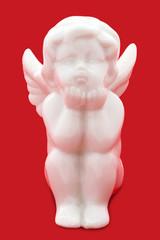 Weiße Engelsfigur - White angel figurine