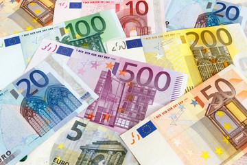 Euro Geldscheine durcheinander