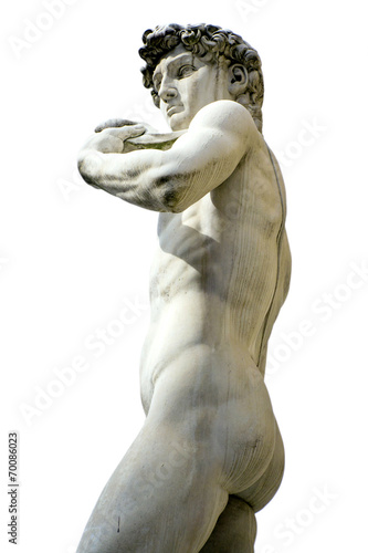 Leinwanddruck Bild David of Michelangelo, Florence - Tuscany, Italy
