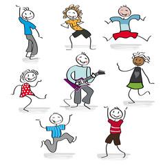 Kinder -  lachend und tanzend