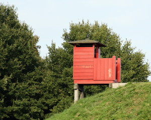 Wooden guard house in the fortress Bourtange