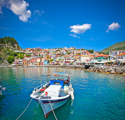 Beautiful panoramic view of Parga, Greece.