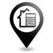 calculatrice immobilier sur symbole localisation noir