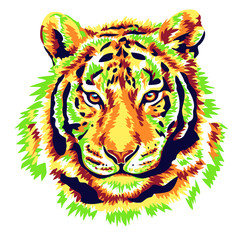 Green tiger illustration vector