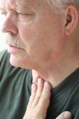 Breathing problems in older man