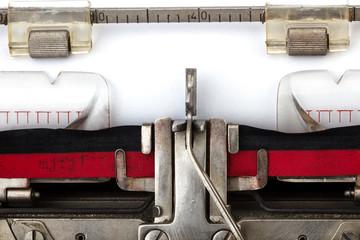 Schreibmaschine analog