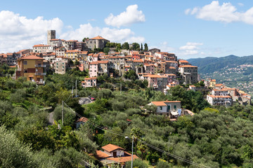 Vezzano Ligure, picturesque hilltop village, Liguria, Italy.
