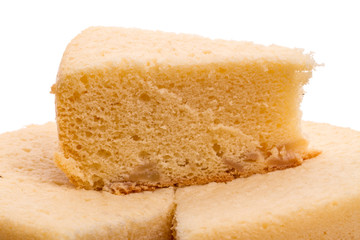 Sponge cake with apples from rice flour
