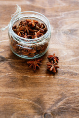spicy anise in a jar