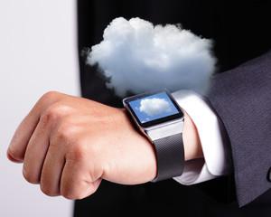 Cloud computing tech with smart watch