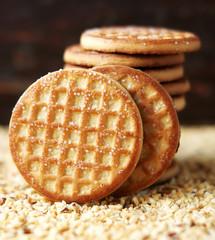 Stack of round sugar cookies