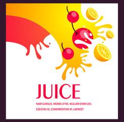 juice fruit liquid drops splash colorful background