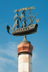 Vessel on the top of the Rizhsky fountain