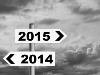 Grey New Year - signpost for the less optimistic or pessimistic