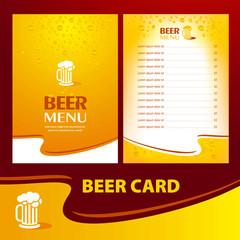 menu beer card / cmyk, no transparent