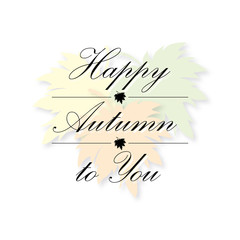 happy autumn to you