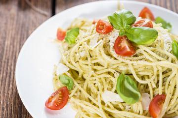 Fresh made Spaghetti (with Pesto)