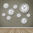 canvas print picture - Wall of Clocks