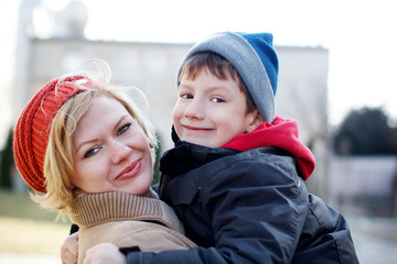 Family winter portrait