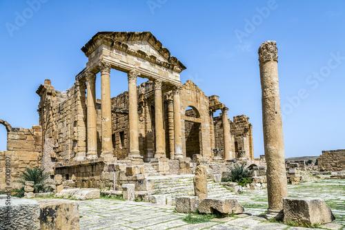 Poster Tunesië Roman ruins of Sufetula near Sbeitla