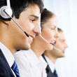 Three customer support phone operators
