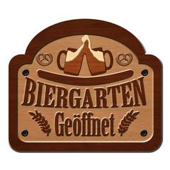 Biergarten Geöffnet