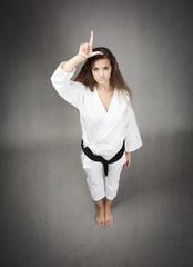 l for a loser karateka