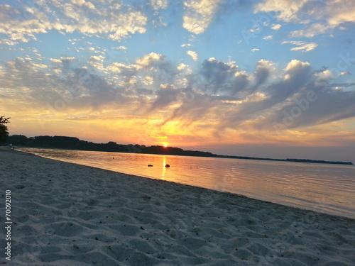 canvas print picture Sundown