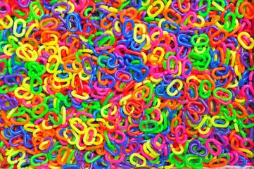 Colorful plastic chain