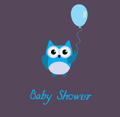 Baby Shower Card With Owl