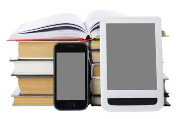 Telephone and e-book