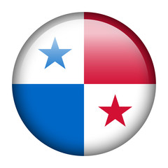 Panama flag button