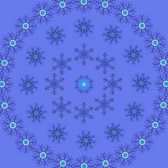 Background snowflake