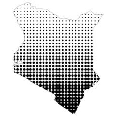 Illustration of map with halftone dots - Kenya.