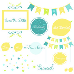 Elements of a wedding invitation