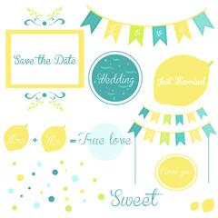 Elements of a wedding invitation