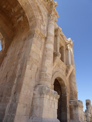 El Arco de Adriano en Jerash, Jordania