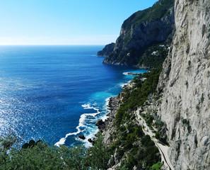 Capri Island and Adriatic Sea, Italy