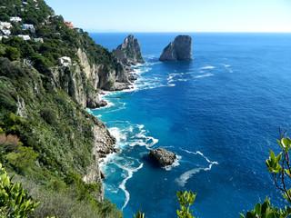 Adriatic Sea in autumn season. Capri Island