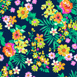 Bright Summer floral ~ seamless background