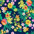 Fototapeta - Bright Lato kwiatów bezszwowe tło ~