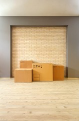 Cardboard Boxes in the Room