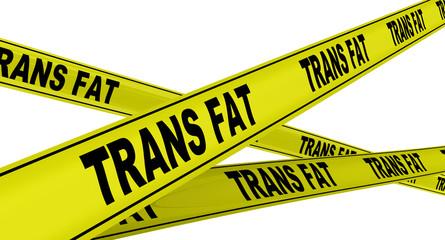 Трансжиры (trans fat). Желтая оградительная лента