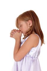 Praying young girl.
