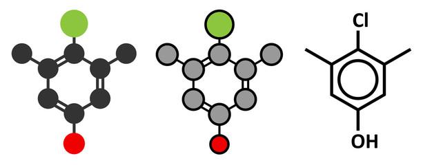 Chloroxylenol antiseptic molecule.
