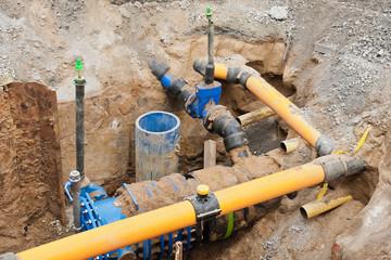 Sanierungsarbeiten an der Gas- und Wasserversorgung