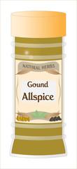 Ground Allspice Jar
