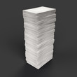canvas print picture - Paper stack