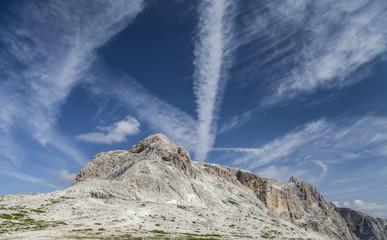 Blue sky over the top of Mount Corona