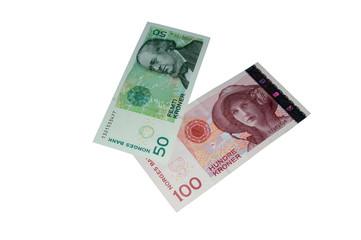 Norwegian kroner banknote